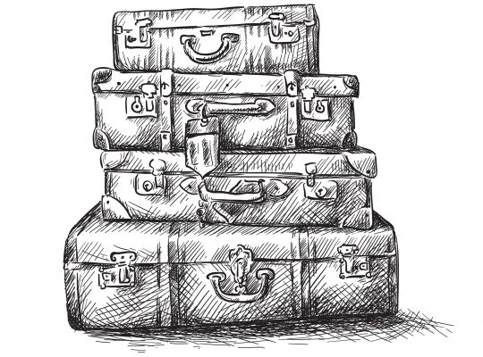 stack of baggage